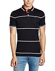 LP Louis Philippe Mens Polo (8907545682031_LYKP317S04741_L_ Black Solid )