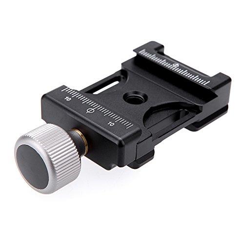 Andoer Mini Quick Release-Aluminium Klemme verstellbar und kompatibel mit Arca Swiss für 38mm QR Platte Arca-swiss Clamp