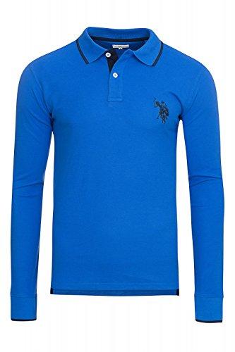 U.S. POLO ASSN. Polo T-shirt da uomo camicia Blu 197 42608 51887 173, Size:M