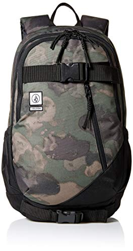 Volcom - Substrate, Mochilas Hombre, Verde (Camouflage), 18x47x32 cm (B x H T)