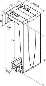 Tirard - Ferrures De Portail Coulissant - Platine De Guidage Grand Modèle - Dimension: 325 mm - Couleur: Blanc 9010