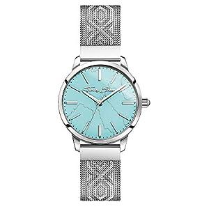 Thomas Sabo Damen Analog Quarz Uhr mit Edelstahl Armband WA0343-201-215-33 mm