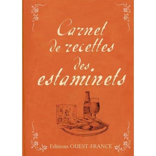 CARNET DE RECETTES DES ESTAMINETS
