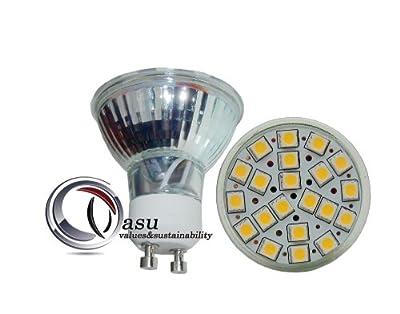 1x GU10 21 SMD5050 Power LED Strahler Spot warmweiß 240V 3,5W 300lm, 2700K