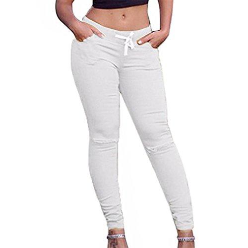 Bescita - Legging - Femme rose rose vif XXL Blanc
