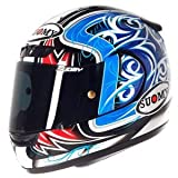 Suomy ksap0004.5Casco Moto, Azul/Rojo, L