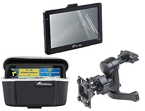NavGear Navi Halterung: Premium-Zubehör-Set für NavGear Navi GTX-60-3D