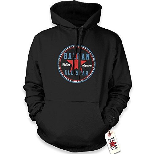 net-shirts Balkan Apparel - Balkan Allstar Hoodie, Größe XL, schwarz All-star-pullover