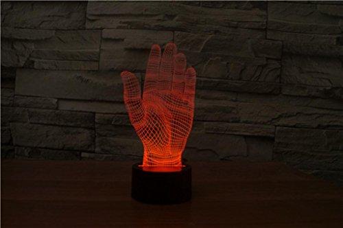 DENCAIGU 3D Bunte visuelle stereoskopische Lampe Kreative Palmen LED Touch Energie Steigung Lampe Kleine Nacht Licht Haus Einrichtung Geschenk 5V (Palme-touch-lampe)