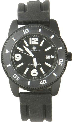 Smith and Wesson Uhren schwarze Uhr, Gummiarmband, WEEE-Reg.-Nr. DE93223650, 76072