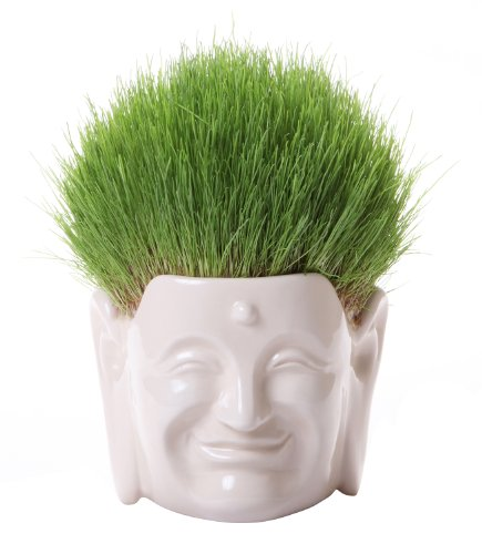 m The Salon of The Great Buddha - Laughing Buddha White : Flower & Grass Planters (Stands,Pottery,Pot,Container) [Standard Ship by Int'l e-Packet: with Tracking & Insurance]