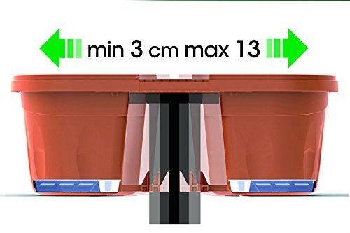 Bama 30230 Fioriera Klunia di 40 cm da balcone, Terracotta - 3