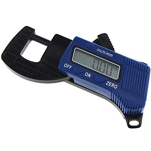 KUNSE Aneng 12.7 mm Digitale Dickenmessung Mini-Zifferblatt Dicke Meter Kohlefaser Composite Breite Messwerkzeug-blau
