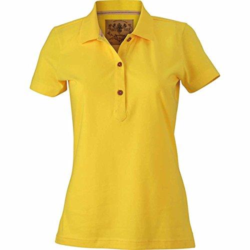 JAMES & NICHOLSON -  Polo  - Basic - Con bottoni  - Maniche corte  - Donna giallo sole
