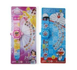 Parteet 24 Images Projector Watchs for Kids (Combo Pack of 2Pc)(Clear Projection And Durablility)