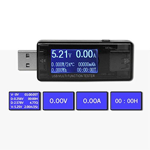 USB Multi-Funktion Detektor Handy Laden Displayschutzfolie USB Strom und Spannung Test USB Spannung Tester