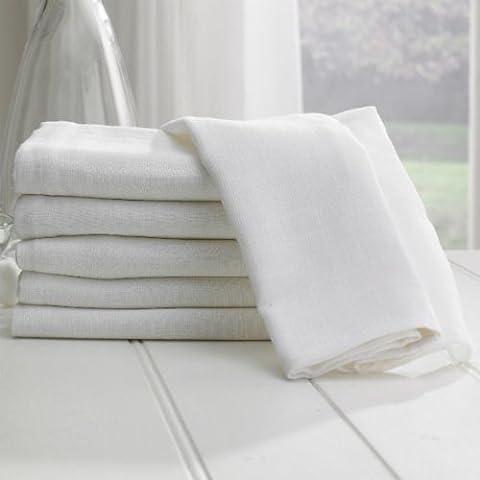 Lollipop Lane - Mussola quadrata, confezione da 6, colore: Bianco - Blanket Nursery Bedding