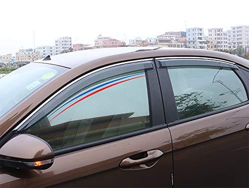 BeHave qyd783w Auto Windabweiser,Auto Fenster Schutzrahmen,Automotive Exterieur Teile Regenfest 4 Stück Geeignet Für Ford Escort