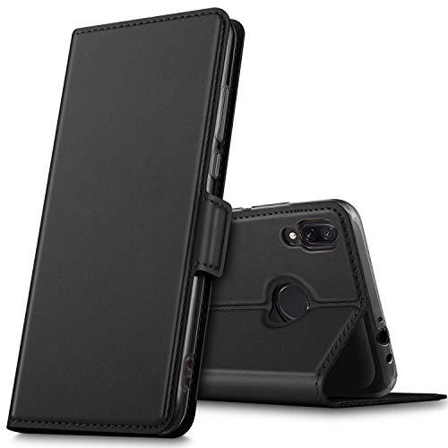 GEEMAI Diseño para Xiaomi Redmi Note 7 funda, Multi-ángulo a Prueba de Golpes y Polvo a Prueba de Silicona con Soporte Plegable apto para Xiaomi Redmi Note 7 / Redmi note 7 pro Smartphone. (Negro)