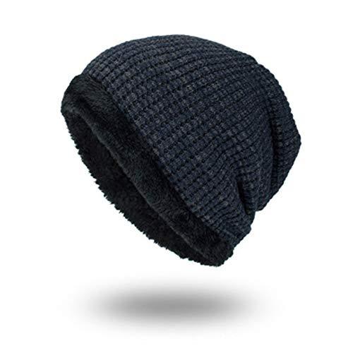 SELYÄrmel im Freien männlichen Hut Wollmütze Winter Plus samt warme Mütze