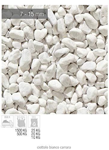 zandobbio ciottolo di marmo bianco carrara sacco da 25 kg sassi pietre arredo giardino vasi