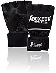 Boxeur Des Rues Fight Activewear Guantes de fit-box, de neopreno negro negro Talla:Small/ Medium