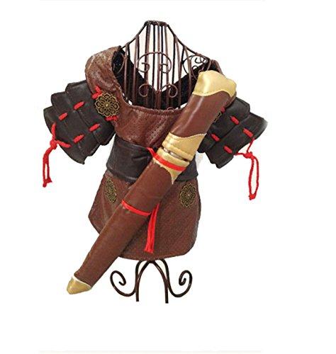 Krieger Kostüme Nette (Antike Krieger Katze Hund Kostüm Lustige Hund Haustier Kleidung Anzug Asura Verkleidung Party Bekleidung Bekleidung Plus Kneelet * 4 (S M)