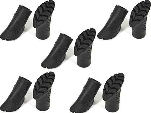 10 Stück ASPHALTPADS 14 mm GUMMIPUFFER für Nordic Walking Stöcke Ersatzfüße ~cf80009