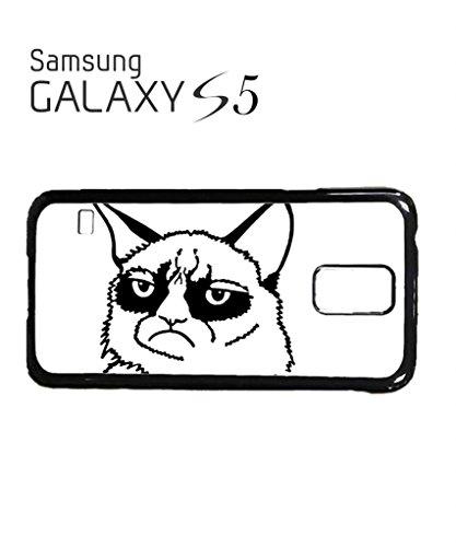 Grumpy Cat Cartoon Geek Mobile Cell Phone Case Samsung Galaxy S5 Mini Black Blanc