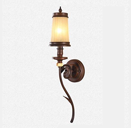 ZHAS American Style ländlichen Wandleuchte Eisen Lampe Wohnzimmer Schlafzimmer Spiegel vorne Licht Europäische Leuchten Retro TV-Kulisse Wandleuchte (Gratis-einfachheit-muster)