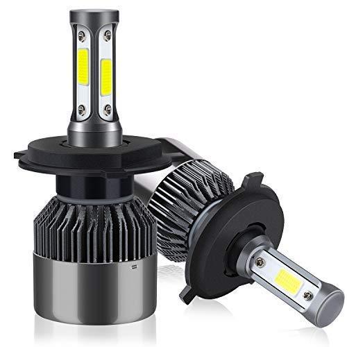 Lampadine H4/HB2/9003 LED 8000LM, Kit Lampada Sostituzione per Alogena Lampade e Xenon Luci, Fari Abbaglianti o Anabbaglianti per Auto, 6000K Bianco