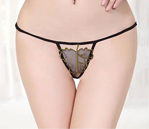 MSAJ Feminine Spitze Low-Rise bestickt Thong H?schen_Transparente Unterw?sche der offenen Unterw?sche des reizvollen Netzgarns