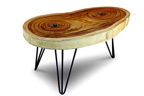 Mesa de centro tablero de disco de tronco de árbol