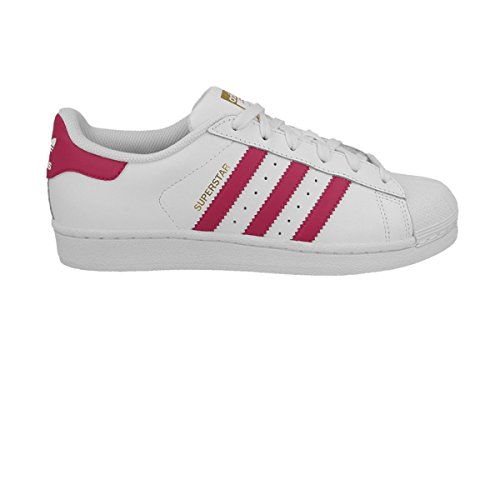 adidas Superstar Foundation, Unisex Kids' Low-Top Sneakers, White (Ftwr White/Bold Pink/Ftwr White),...