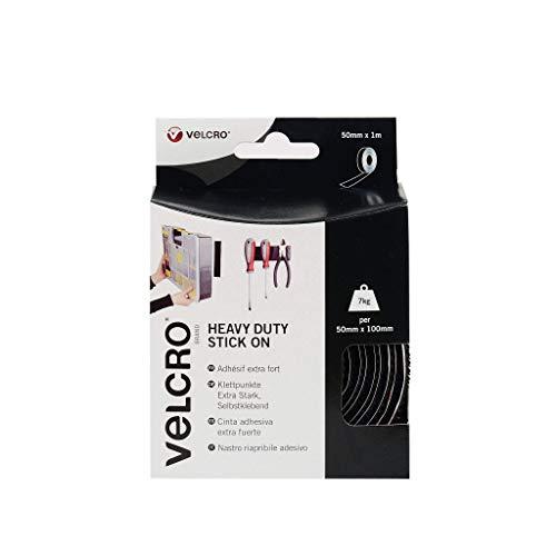 Velcro EC60241 Nastro Extra-Strong, 50 mm x 1 m, Nero