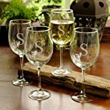 Set of 4 White Wine Glasses - GC951 by Favors Depot
