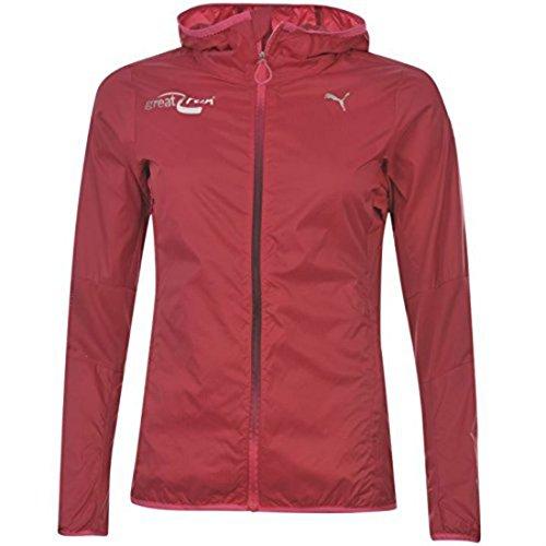 Puma Veste à capuche pour femme idéal pour Jogging Sport Activewear Rouge - Cerise