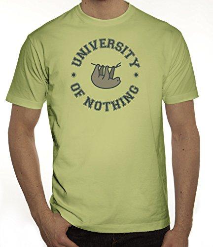Faultier Herren T-Shirt mit University Of Nothing Motiv von ShirtStreet Limone