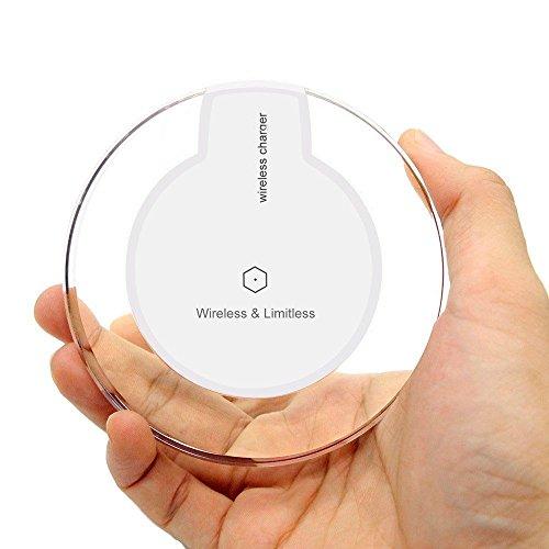 ultrics® Wireless Ladegerät, portable Premium Qualität Ultra Slim Qi Aktiviert rutschfest Charging Pad für Samsung S7Edge S6Note6Note 5Nexus & alle anderen Wireless Aufladen Kompatible Geräte–Weiß