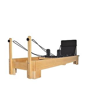 Studio Pilates kommerzieller Reformer mit Cardio Rebounder/Jump Board & Sitting Box – Pilates Equipment – Lebenslange Garantie auf das Holz (Holz)