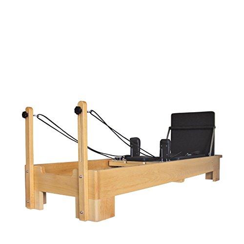 Studio Pilates kommerzieller Reformer mit Cardio Rebounder/Jump Board & Sitting Box - Pilates Equipment - Lebenslange Garantie auf das Holz (Holz)