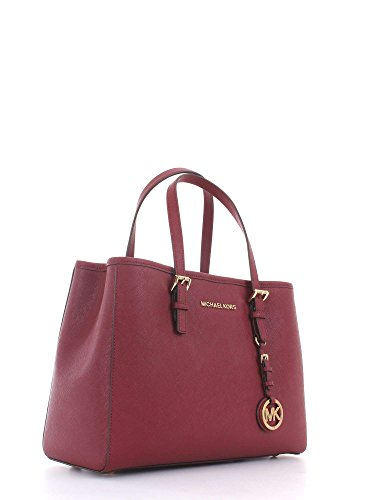 6cf4a7be1c8d Michael Kors Womens Medium  jet Set Travel  Tote Tote Red (Mulberry)