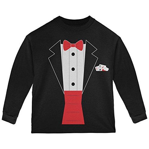 Zauber Zauberer Kostüm Kleinkind Langarm T Shirt Schwarz 4 t (Kleinkind Zauberer Kostüme)