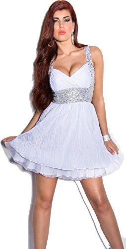 In-Stylefashion - Robe - Femme Argenté Argent Blanc - blanc