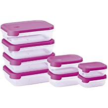 Juypal 913 - Set de 8 tapers rectangulares, sistema abrefácil, 6.30 l en total, color fucsia