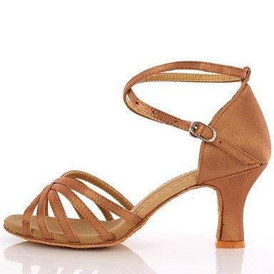 Chaussures De Danse-non-personnalisable-mesdames-latin-american Danse-a Stiletto-cuir-noir / Autre Nude