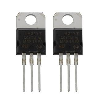 SODIAL (R) 2 Stueck 1.2-37V 1.5A Positive LM317T TO22 Paket Spannung Regulator