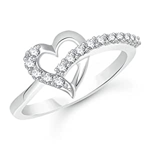 V. K. Jewels Rhodium Plated Alloy Cubic Zirconia Ring For Women & Girls