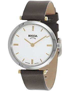 Boccia Damen-Armbanduhr Analog Quarz Leder 3253-03