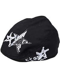 f76c896b146b YiyiLai Enfant Chapeau Casquette Béret Imprimé Etoile de Soleil Bonnet  Unisexe…